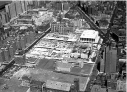 Photo of San Juan Hill after the demolition